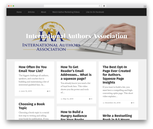 Garfunkel WordPress theme - internationalauthorsassociation.org