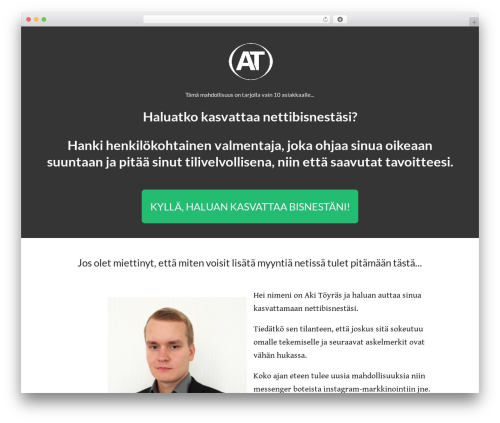WordPress theme Minus - akitoyras.com