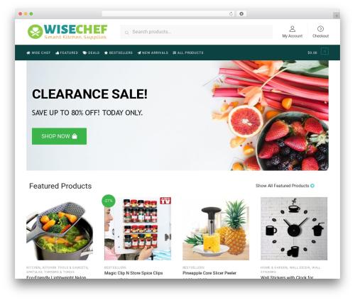 Shoptimizer WordPress ecommerce theme - wisechef.com