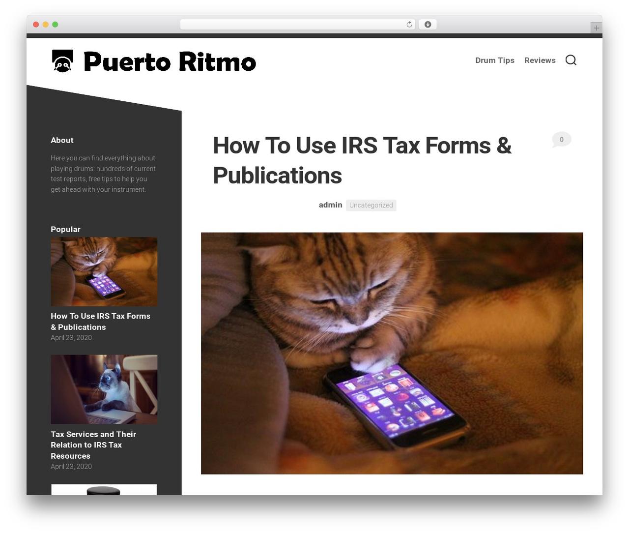 WordPress theme Minimer - puertoritmo.com
