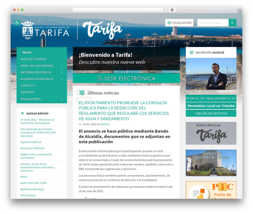 Best WordPress template TownPress - aytotarifa.com