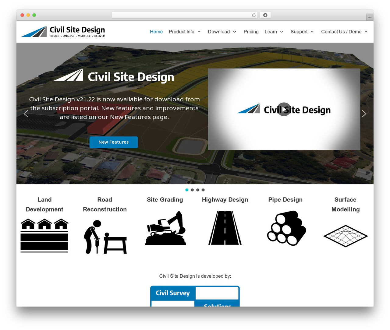 WordPress template Neve - civilsitedesign.com