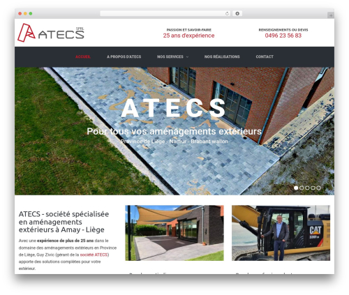 TheBuilt WordPress theme design - atecs.be