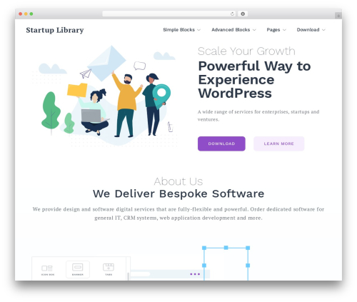 WordPress theme Getwid Base - startuplibrary.org