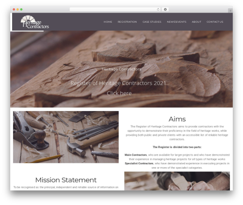 California WordPress theme - heritageregistration.ie