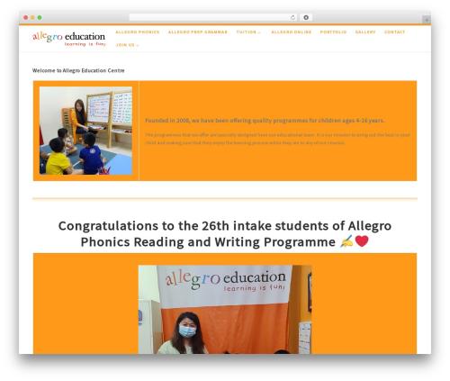 WordPress website template Customizr - allegroeducation.com