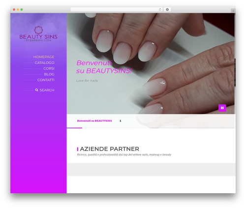 Best WordPress theme BeautySpot - beautysins.it