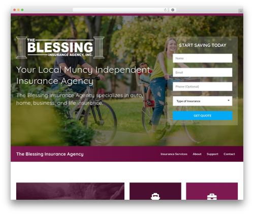 BrightFire Stellar WordPress template for business - blessinginsurance.com