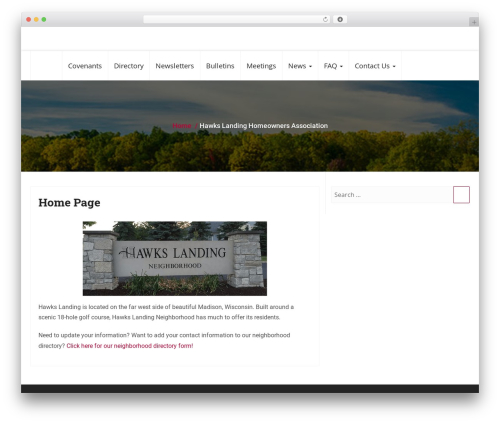 Business Responsiveness WordPress template for business - hawksowners.com