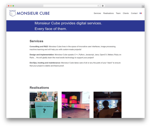 neve template WordPress - monsieurcube.com