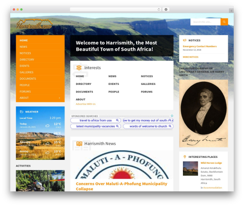 Template WordPress TownPress - harrismith.com