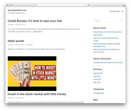 WordPress theme neve - facolombofilia.com