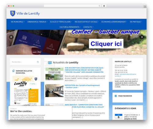 TownPress WordPress template - mairie-lentilly.fr