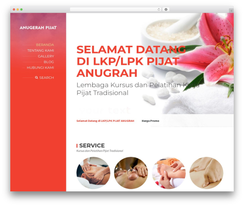 WordPress theme BeautySpot - anugerahpijat.com