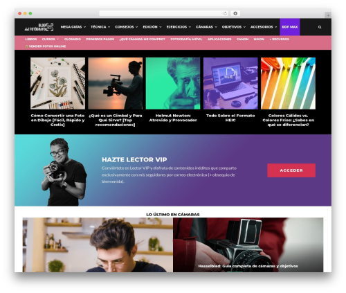 Zeen WordPress blog template - blogdelfotografo.com