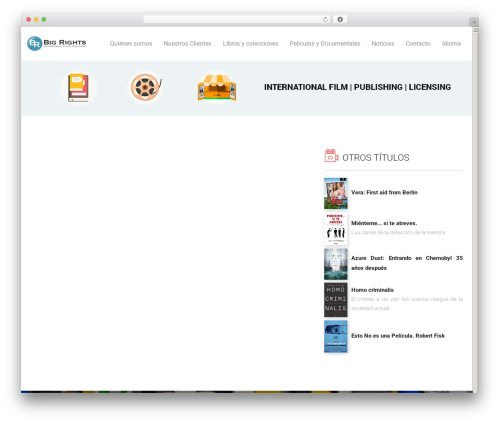 Livre WordPress theme - big-rights.com