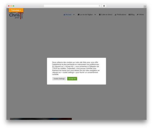 WordPress theme Neve - christpourtous.org