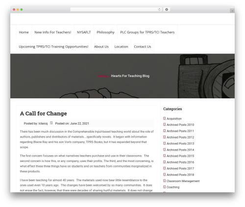 Business Responsiveness WordPress template for business - blog.heartsforteaching.com