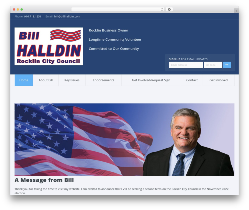 Candidate WordPress template for business - billhalldin.com