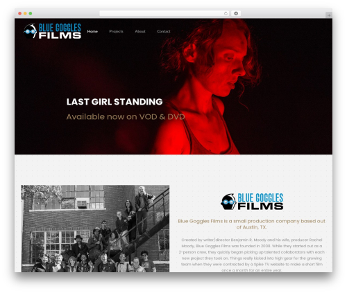 filmic WordPress template for business - bluegogglesfilms.com