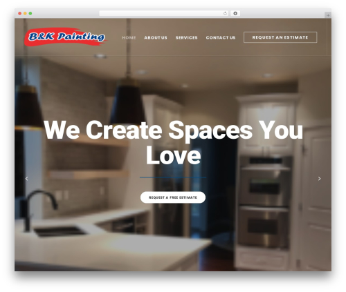Uncode WordPress theme design - bnkpainting.com