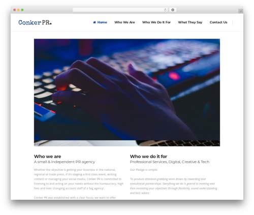 Pitch WordPress template for business - conkerpr.com