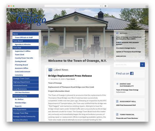 WordPress theme TownPress - townofoswego.com