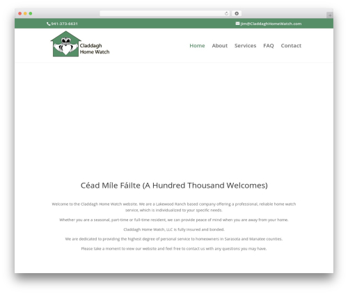 Divi WordPress theme - claddaghhomewatch.com