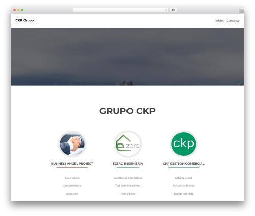 Zerif Lite free WP theme - ckpgrupo.com